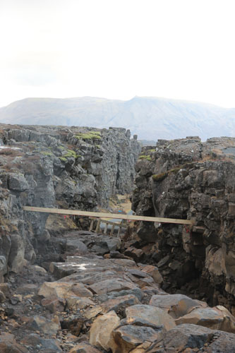 This is where the American and Eurasian tectonic plates meet