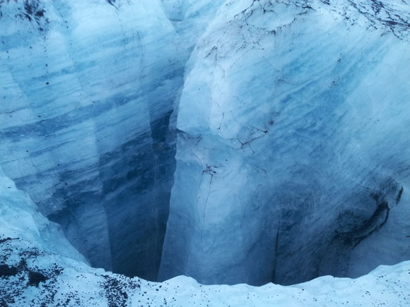 Glacier Sink Holes