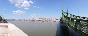 Green Bridge at Danube River in Budapest