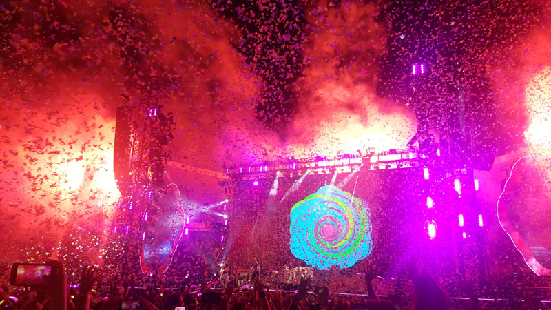 Coldplay Concert Lighting & Backdrop