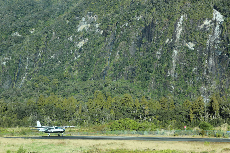 Air Milford plane takes off from Milford Sound