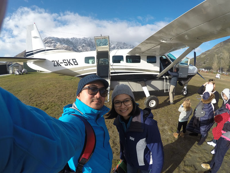 Before take off at Queenstown Airport