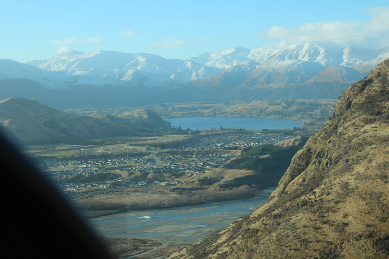 View of Queenstown from the sky